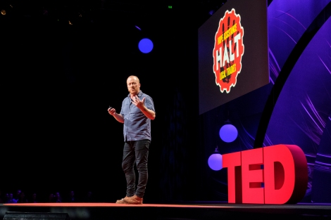 Jeremy Forbes speaks at TED@Westpac at Royal Hall of Industries and Hordern Pavilion, Sydney, Australia. Photo: Jean-Jacques Halans / TED